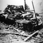 Рапај Брдо, на путу Крагујевац - Горњи Милановац, 15. октобра 1941. Немачко оклопно возило које су уништили четници, укопавањем авионских бомби заробљених 1. октобра у ослобођеном Чачку. Бомбу је жицом активирао каплар Раде Живановић из Љутовнице, који је погинуо од силине експлозије. Краљ Петар је постхумно одликовао каплара Живановића