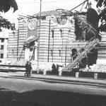 Саборна црква Свете тројице у Бањалуци, тешко оштећена у немачком бомбардовању 11. априла 1941. године и минирана августа 1941. године по наредби хрватских власти