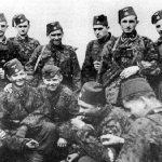 Дивизија је први пут ангажована фебруара 1944. у Срему и североисточној Босни. Свој ратни пут обележила је многобројним злочинима над цивилима и ратним заробљеницима. У садизмима је понекад премашивала и усташе. Херман Фегелајн, Химлеров официр за везу са Хитлером, обавестио је фирера 6. априла 1944. да је један припадник дивизије, рањен у десну руку, левом руком извадио срце из груди 17-орици заробљених, рањених партизана (В. Казимировић, Немачки генерал у Загребу, страна 195).