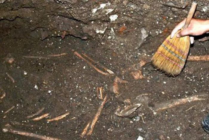 Још једна фотографија из новембра 2011, са истог места. Ова гробница је откривена у једном подруму