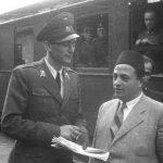Францетић са градоначелником Сарајева Мујагом Софтићем лета 1942. године