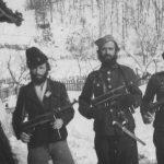 Четници Церског корпуса у Пецкој, 5. фебруара 1944. У средини је потпоручник Марко.