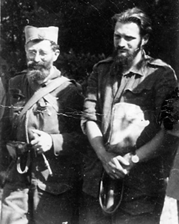 Генерал Дража Михаиловић и капетан Звонко Вучковић 1944. у Прањанима