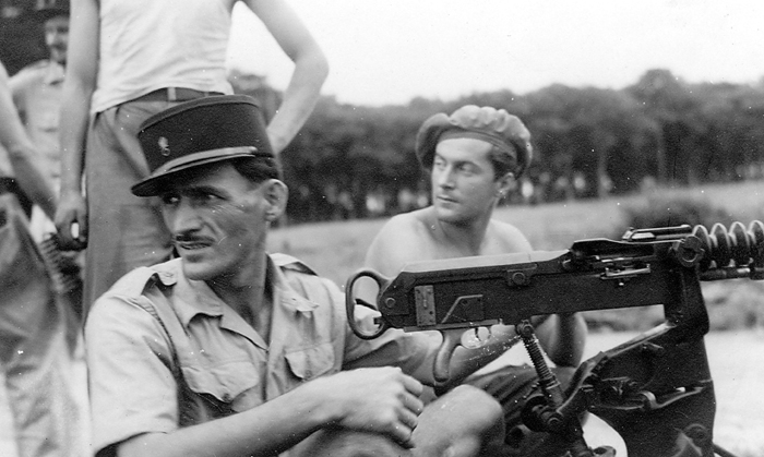 Novica Lukic (left) in the Foreign Legion