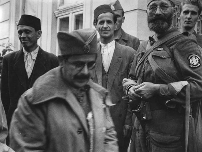 Дража са муслиманским првацима у Семберији око 1. октобра 1944. године