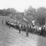 Регрути Млавског корпуса приликом полагања заклетве код манастира Горњак, 3. јуна 1942. године