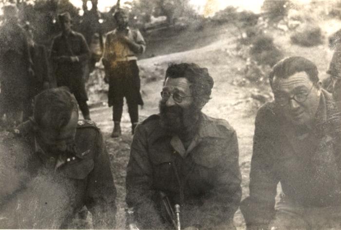 У области Вишеграда: амерички потпуковник Сајц, Дража и британски пуковник Бејли
