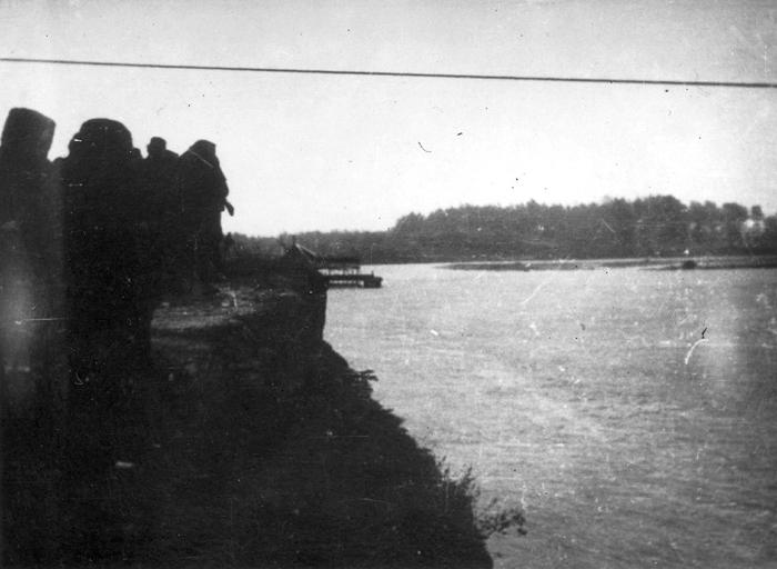 Прелазак реке Босне, скелом