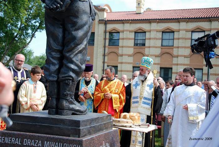 5 Mihailovich Statue Dedication Gracanica Sept 2009 Jovan Ivancevic (19)