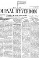Факсимил насловне странице листа ''Л Журнал Д`Ивердон'' од 16. августа 1946. године