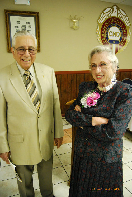 "Colonel George Jatras U.S.A.F. (Retired) and wife Stella Jatras Serbian National Defense ""Vidovdan"" celebration June 28, 2009. New Gracanica Monastery, Third Lake, IL. Photo by Aleksandra Rebic"