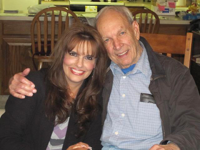 Curtis Diles with his daughter, Diane Diles Hammond, on Easter Sunday, March 31, 2013.