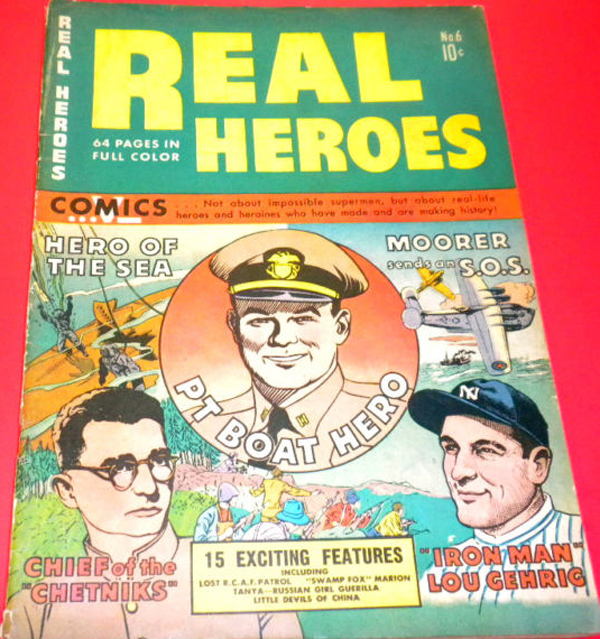 REAL HEROES COMIC BOOK COVER 1942