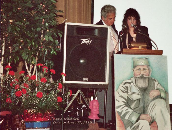 Major Richard Felman and Aleksandra Rebic General Mihailovich's 100th Birthday Celebration, April 23, 1993,Chicago, IL U.S.A.
