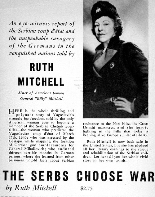 Ruth_Mitchell The Serbs Choose War Description