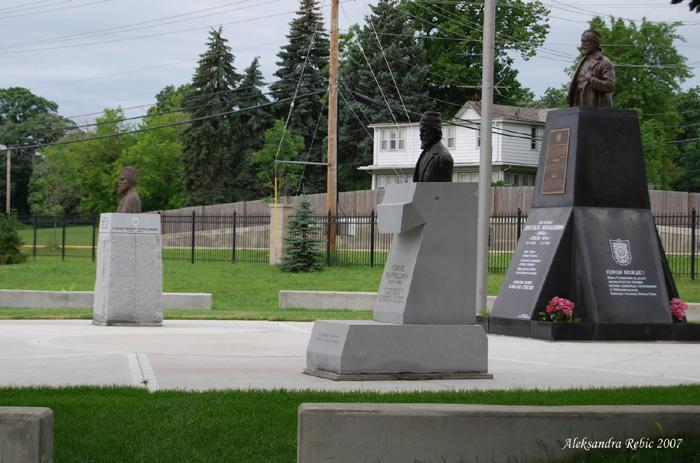 Photos of Memorial Park at St. Sava Monastery by Aleksandra Rebic, June 22, 2007