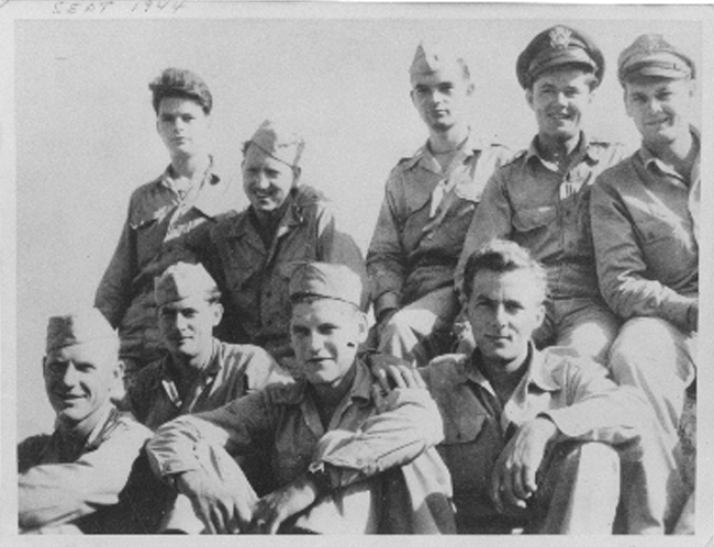 The Crew with Thomas K. Oliver (middle of top row) as Pilot 756th Squadron, 459th Bomb Group, 15th Air Force (USA)
