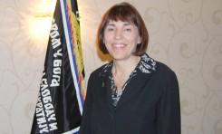 "Vera Dragisich, Secretary ""Movement of Serbian Chetniks Ravne Gore"", Editor - English Section ""SERBIA"" newspaper ""Voice of Serbian Fighters for Freedom"". Photo: Aleksandra Rebic May 19, 2013"