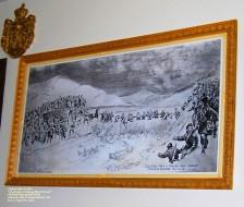 """Crossing the Korana"" 1944 drawing by Drasko Prostran Chetnik Memorial Hall, Schererville (Crown Point), Indiana U.S.A. Photo by Aleksandra Rebic May 19, 2013"
