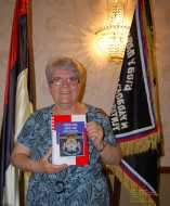 Milica Iglendza, President of the Chetnik Kolo Ravne Gore, Merrillville, Indiana at Chetnik Memorial Hall in Schererville (Crown Point), Indiana May 19, 2013. Photo by Aleksandra Rebic