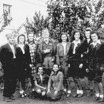 Драгиша Васић са равногоркама 2. равногорског корпуса, у области Чачка 1944. године