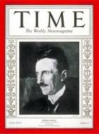 Nikola Tesla on the cover of Time Magazine 1931
