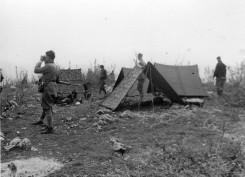 Бивак Јеленачко-брајовићког батаљона у Жупским катунима, пролећа 1942.