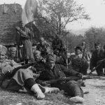 Загарачки батаљон на положају Лазарев крст, априла 1942.