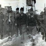 Мајор Павле Ђуришић са својим штабом