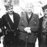 Четник Косјерићке бригаде: Бранко Михаиловић, први с лева на десно