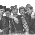Четници Косјерићке бригаде: Бранко други, Воја четврти с лева на десно