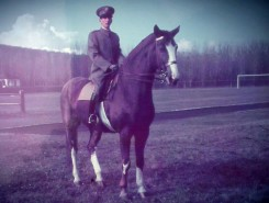 King Peter II on horse at Topcider in Autum 1939 color