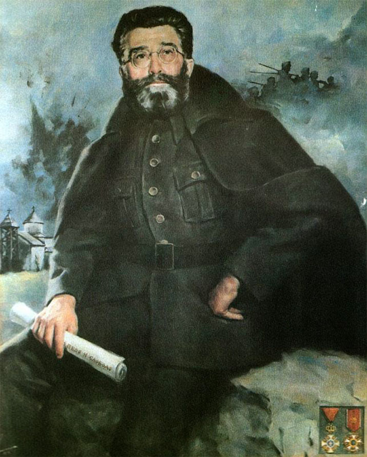 Portrait of General Mihailovich by Jim Pollard