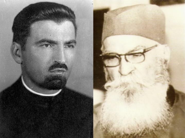 Поп Новак Станојевић пре рата (лево) и на снимку из 1990. године