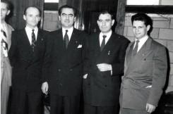 С лева на десно: Ђоко Марић, војвода Ђујић, Милан Цвјетићанин, Перица Совиљ