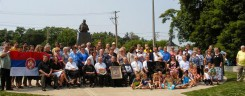 First Annual Chetnik Family Reunion group photo St. Sava Monastery, Libertyville, IL U.S.A. July 19, 2014 Photo courtesy of Vera Dragisich
