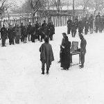 Бољевачка бригада прославља Светог Саву 1943. године, у једном селу испод Ртња