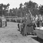 Логор Еболи, 18. јула 1946. године. Први парастос генералуДражи Михаиловићу