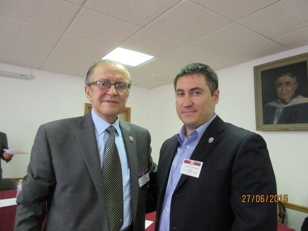 Почасни председник СНО Славко Пановић и нови председник СНО Небојша Живковић
