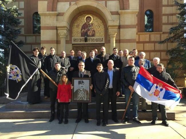 Српски четници – учесници парастоса Танкосићу (фото: Српски четници Равне Горе)