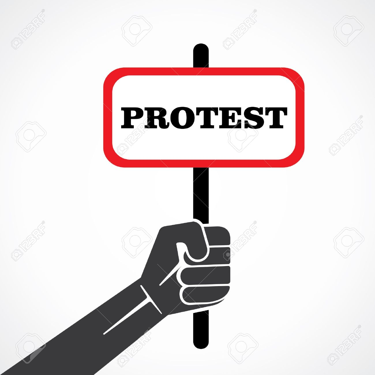 22097772-protest-word-banner-hold-in-hand-stock-vector-stock-vector