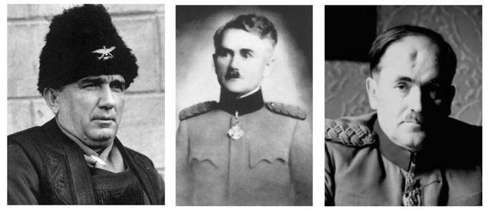 Генерали Трифуновић, Ђукић и Драшкић