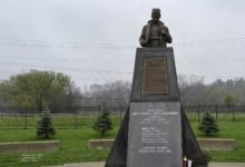 Mihailovich monument in Libertyville, IL Serbian Easter May 1, 2016. A. Rebic