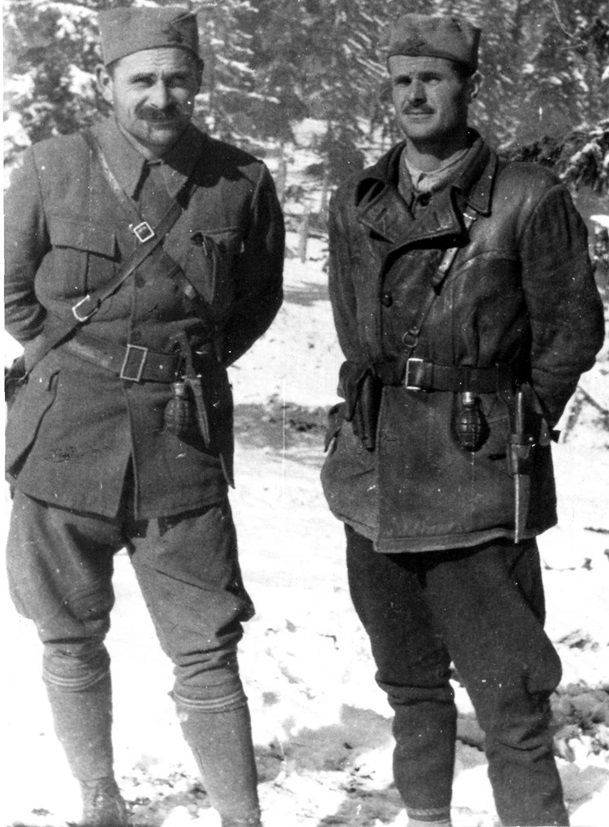 Сава Kовачевић и Војин Поповић (Петар Божовић) 1942.