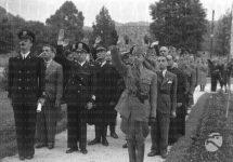 Цетиње, 12. јул 1941. године, Салутирање Дучеу и Хитлеру, фото: Историјски институт Луче